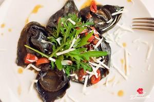 Ristorante Donatello | Tortelli al nero di seppia