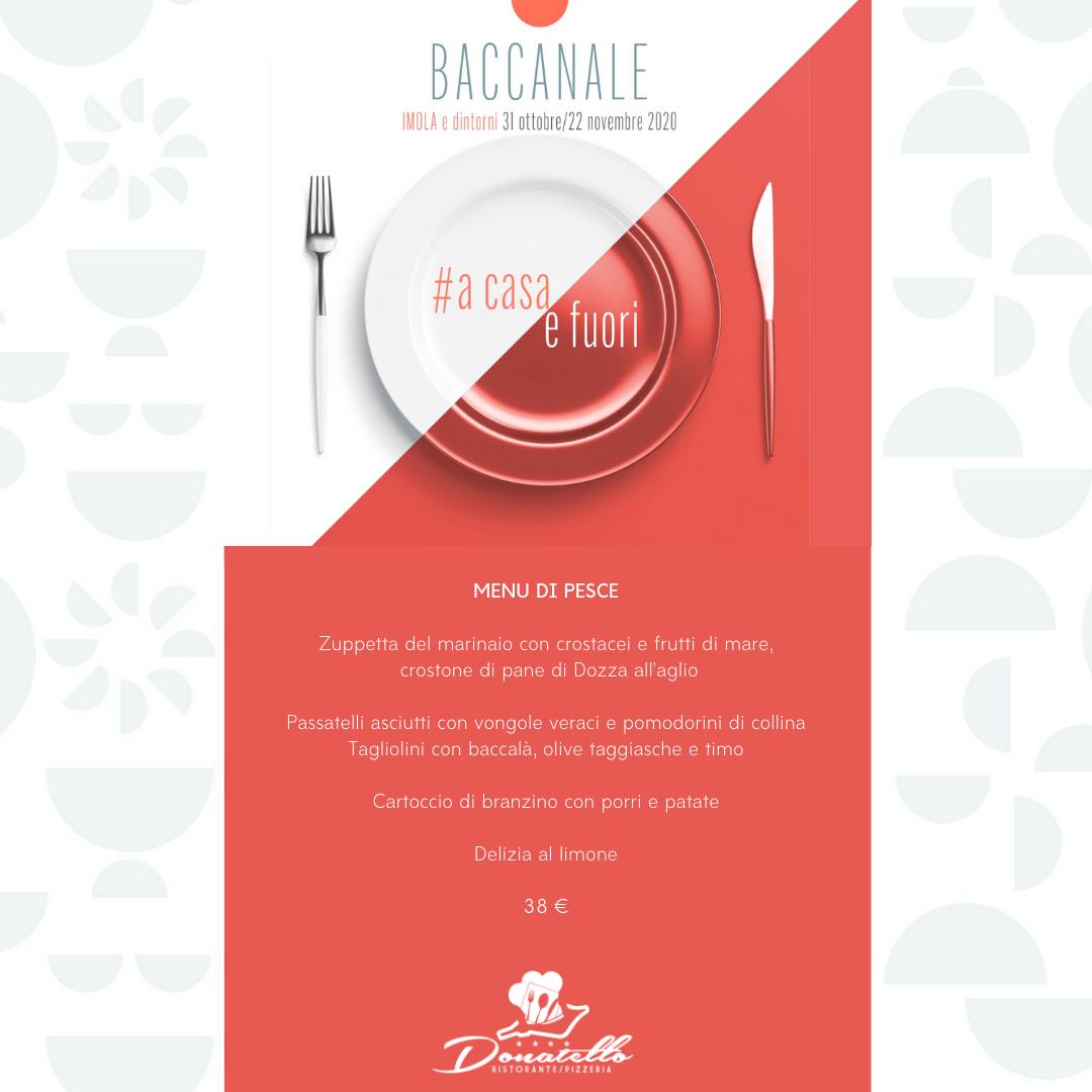 menù pesce baccanale imola