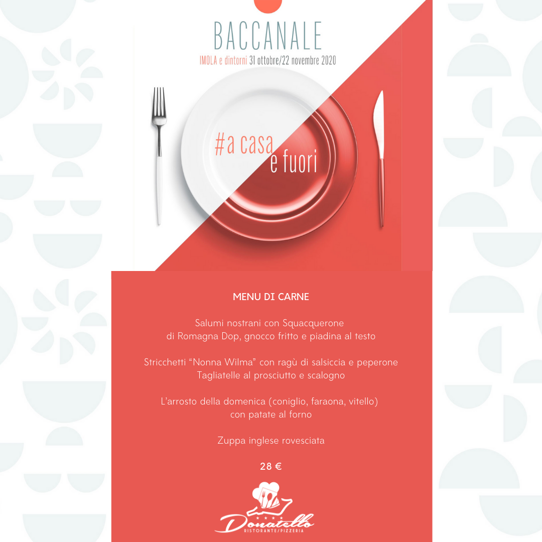 menù carne baccanale imola